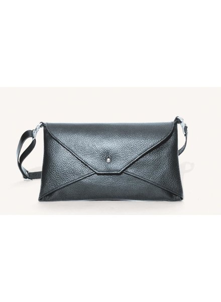 ALFRED STADLER Envelope Clutch in Black