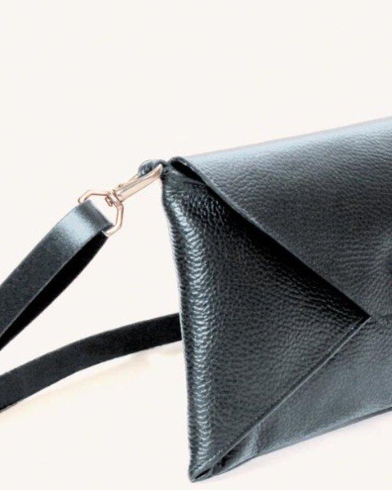 ALFRED STADLER Envelope Clutch in Black