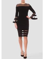 Joseph Ribkoff Full length bell sleeve sheath dress