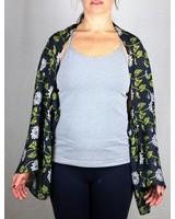 verdigris Flower vine scarf/cape