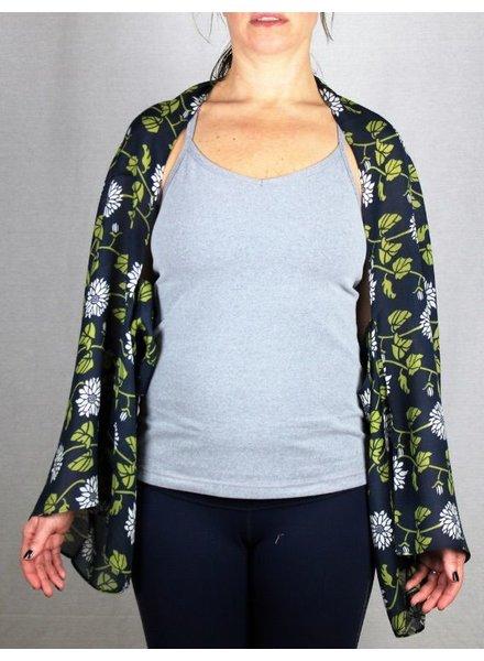 verdigris Flower Vine Kimono