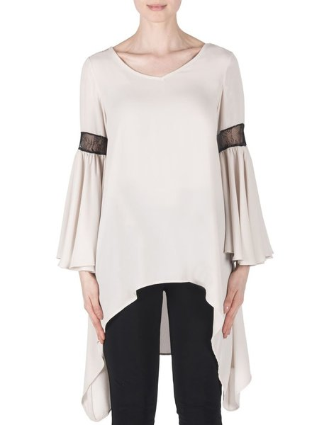 Joseph Ribkoff Bell sleeve lace back detailed tunic