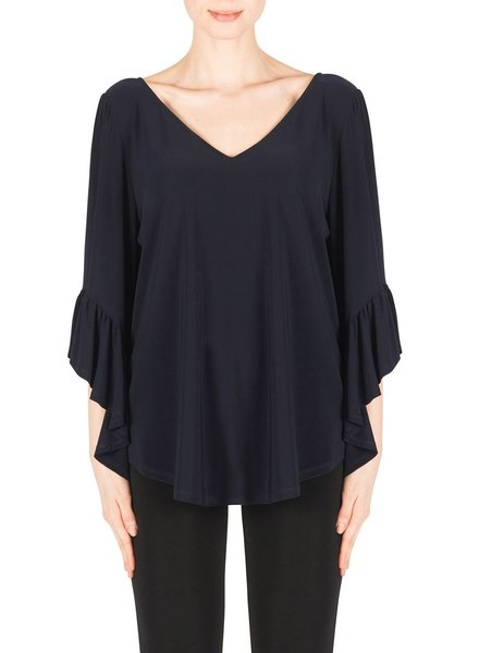 Joseph Ribkoff V-Neck Bell Sleeved Blouse
