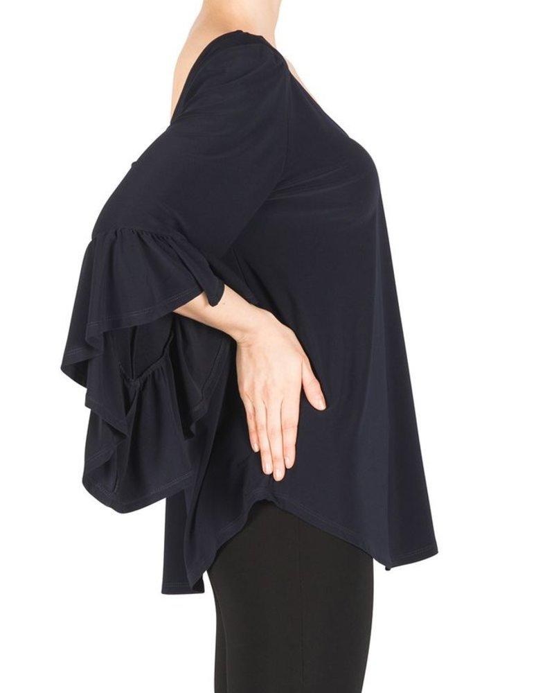 Joseph Ribkoff V-neck bell sleeve blouse