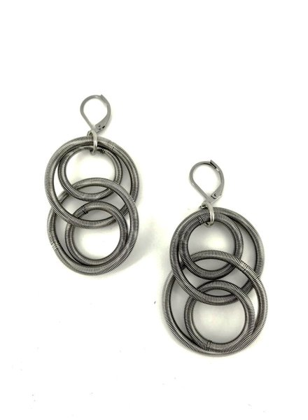 verdigris Silver Large Loop Earring