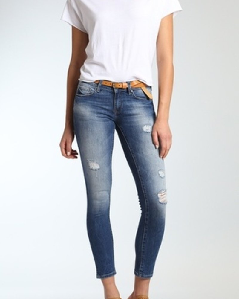 Mavi Jeans Adriana ankle super skinny in dark destructed cou