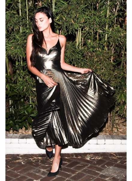 Nicole Miller Disco lame starburst pleated dress by Nicole Miller
