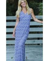verdigris Royal Knots Seaside Ridge Maxi Dress