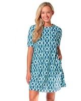 verdigris Trellis Bayshore Lane Swing Dress