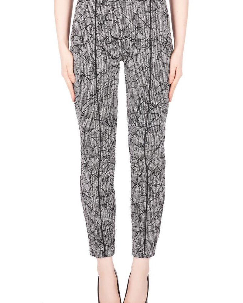 Joseph Ribkoff Pattern pant with velvet detail