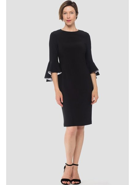 Joseph Ribkoff Color black bell sleeve dress