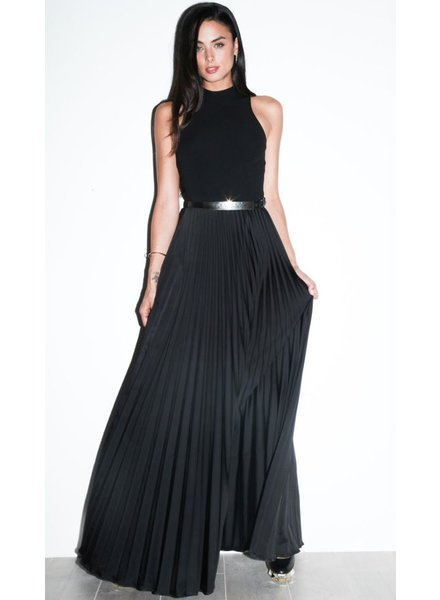 Nicole Miller Mock Neck Pleated Gown by Nicole Miller