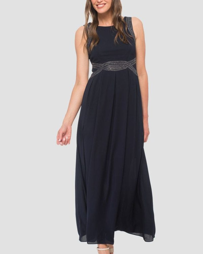 Joseph Ribkoff Cocktail maxi dress with stud detail
