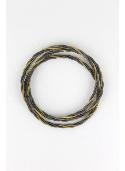 verdigris Slate/Bronze Unbound Twist pianowire Bracelet