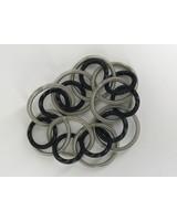 Silver/Black Loop pianowire Bracelet