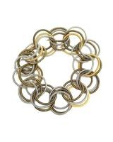verdigris Multi pianowire Spring Ring Bracelet