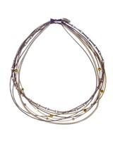 verdigris PianoWire mix necklace