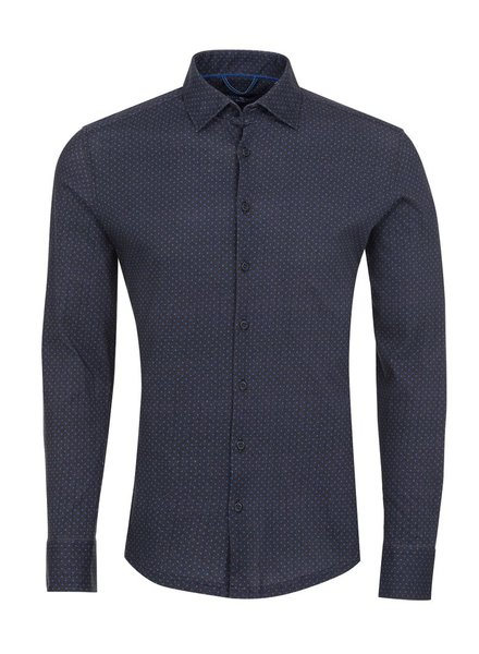 Stone Rose Herringbone Knit long sleeve button down shirt