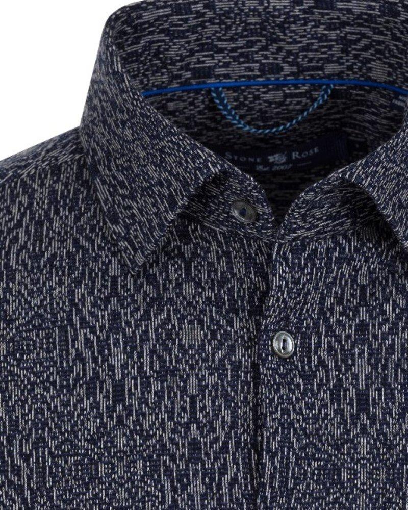 Stone Rose Jacquard Knit button down shirt