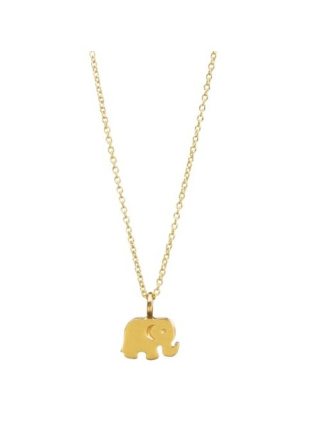 Dogeared Good Luck Elephant Gold Necklace, 16""