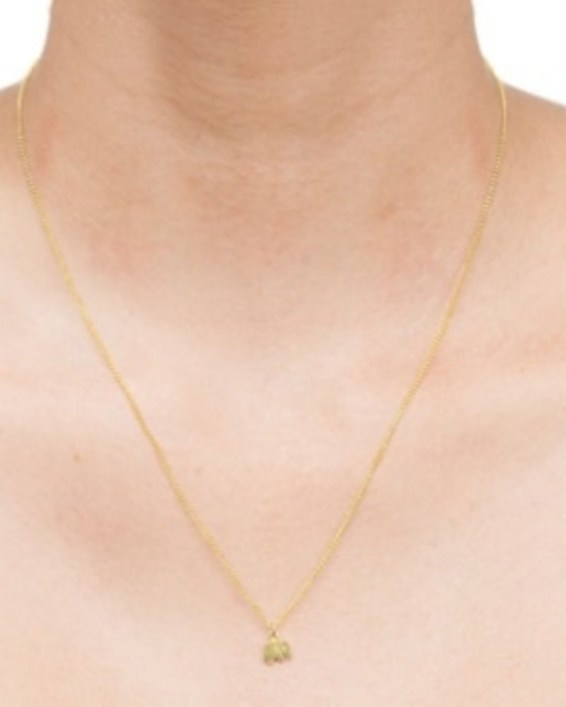 """Dogeared Good Luck Elephant Gold Necklace, 16"""""""