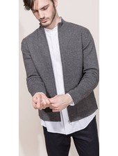 Kokun Patch pocket zip jacket, 100% Cashmere