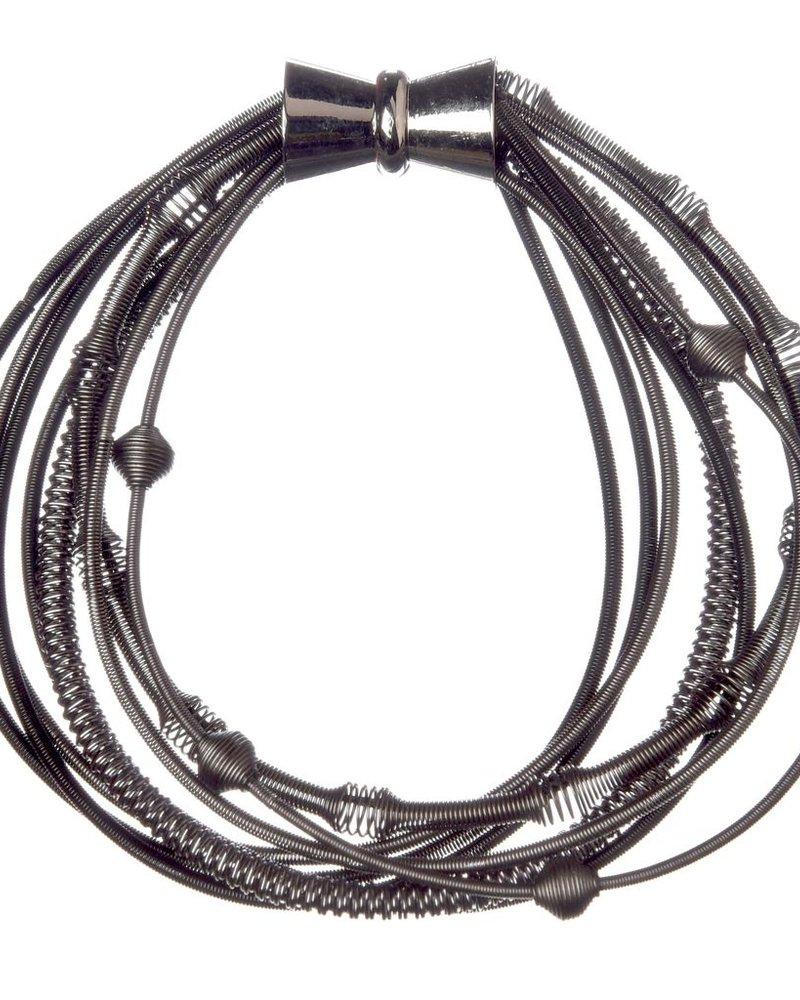 verdigris Black Multi Texture Brac w/ Magnetic Clasp