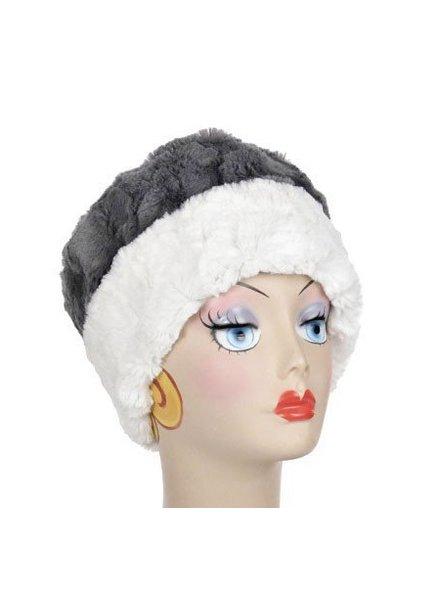 verdigris Faux Fur Cuffed Pillbox Hat