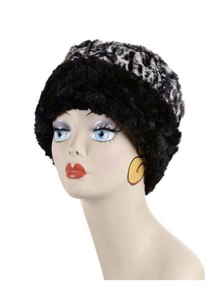 verdigris Faux Fur cuffed pillbox hat Made in USA