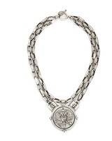 French Kande DOUBLE STRAND LYON CHAIN WITH CANARD MEDALLION