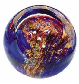 "Rare Earth Gallery Paperweight, Orion's Belt (Celestial, 3""D, Light Base, Velvet Box)"
