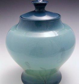 "Rare Earth Gallery Jar / Urn w/Cover, Sea Life (7""D. x 9-10""H)"
