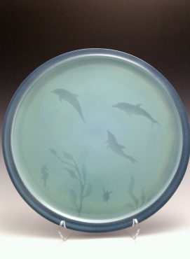 "Rare Earth Gallery Platter, Sea Life (10""D.)"