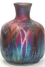 Rare Earth Gallery Bottle (Raku, Squat, #152)