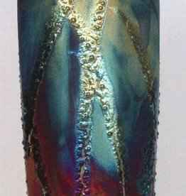 Rare Earth Gallery Vase (Raku, Eight-Sided, #114)