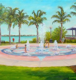 Ruthann Hewson Fountains of Fun, Indian Riverside Park (Print, Matted,11x14)