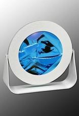 "Rare Earth Gallery OCEAN BLUE (Rd 7""D, Silver Metal)"
