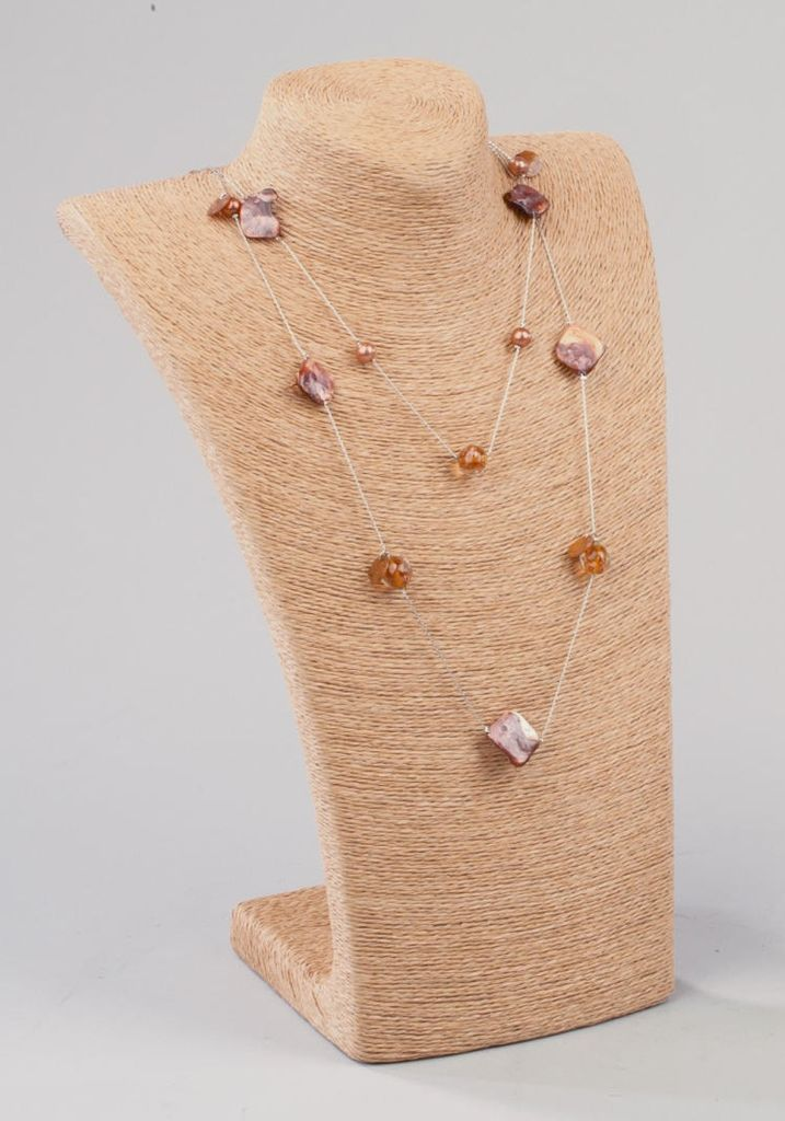 Rare Earth Gallery Accessories, Jewelry Torso, Natural Twine