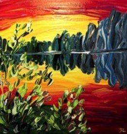 "Rare Earth Gallery Sunset (Original Acrylic, 8"" SQ)"
