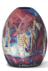 Rare Earth Gallery Vase (Raku, Egg-Shaped, #040)