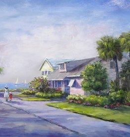 Ruthann Hewson Seminole St. Stroll (Print, Matted, 11x14)