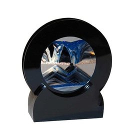 "Rare Earth Gallery ARCTIC GLACIER CLEAR (Rd 4""D, Black Plastic)"