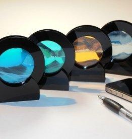 "Rare Earth Gallery SUNSET ORANGE (Rd 4""D, Black Plastic)"