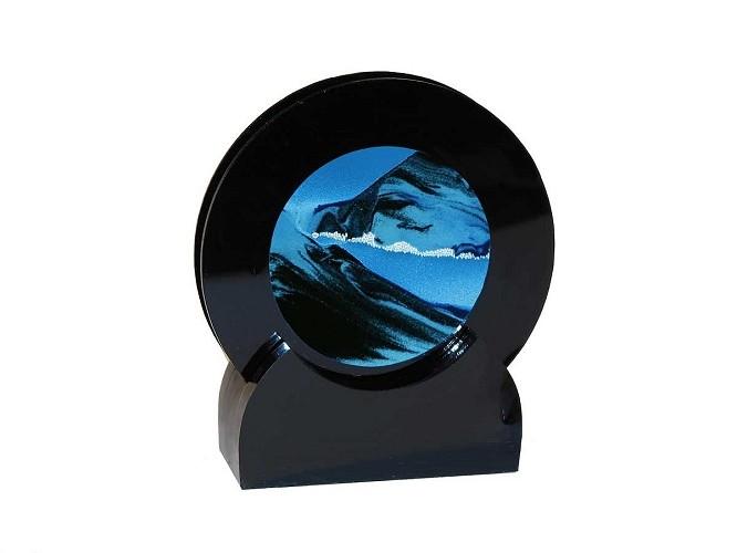 "Rare Earth Gallery OCEAN BLUE (Rd 4""D, Black Plastic)"