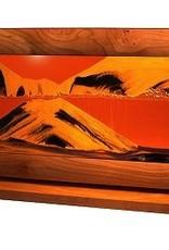 Rare Earth Gallery SUNSET ORANGE (XL, Cherry/Alder)