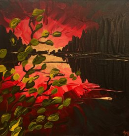"Rare Earth Gallery Pink (Original Acrylic, 8"" SQ)"