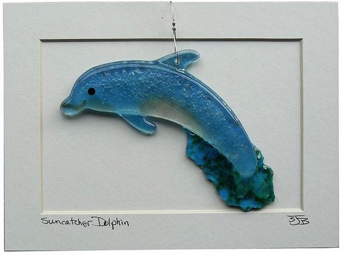 "Rare Earth Gallery Dolphin (Suncatcher, 6""x3"")"