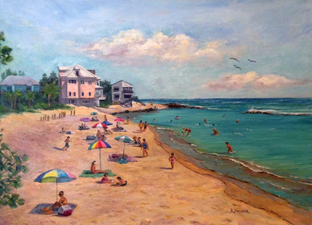Ruthann Hewson Bathtub Beach (Print, Matted, 11x14)