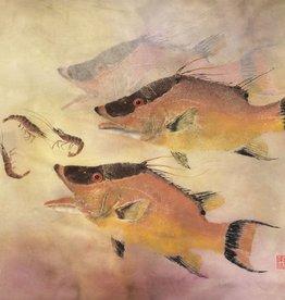Ken Dara Hog Snapper (Gyotaku Giclee, 20x30, Framed, Signed)