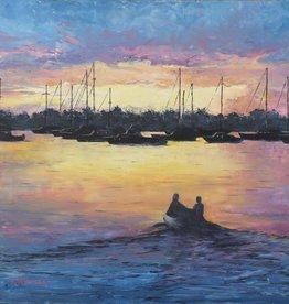 Ruthann Hewson Sunset Bay Sailors (Print, Matted, 11x14)